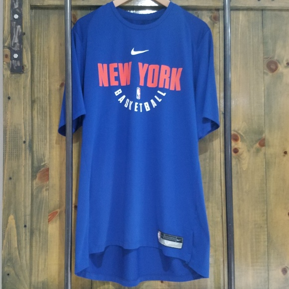 cc5c3c94 Nike Shirts | Nba Air Dri Fit Blue New York Knicks Tee | Poshmark